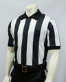 "Smitty 2 1/4"" Stripes Elite Performance Interlock Short Sleeved Football Referee Shirt"