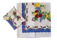 Moda Vintage Cherries Cotton Tablecloth