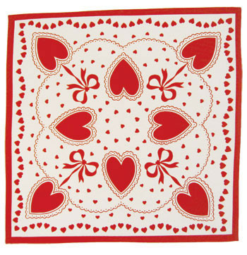 Red And White Sweetheart Valentines Day Tablecloth