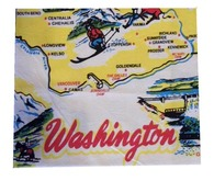 RWK Washington State Flour Sack Cotton Towel