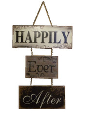 Happily Ever After 3-Tier Metal Sign