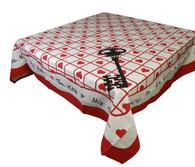 Moda Key To My Heart Cotton Tablecloth or Napkins