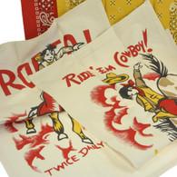 Moda Ride' Em Cowboy & Bandana Cotton Dish Towels, Set of 4