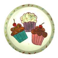 Sullivans Glass Cupcake Platter
