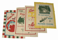 Moda Bait and Tackle Cotton Dish Towels, Set of 4