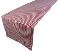"Sebastien & Groome Gingham Table Runner 19""x86"", Red or Green"