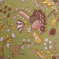 Le Cluny Versailles Green Floral Cotton Tablecloth