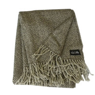 WoolMe Salvio Brown Melange Wool Throw