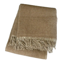 WoolMe Elli Tan Reversible Wool Throw