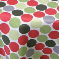 Sebastien & Groome Dots Polka Table Linens, Green Red Grey