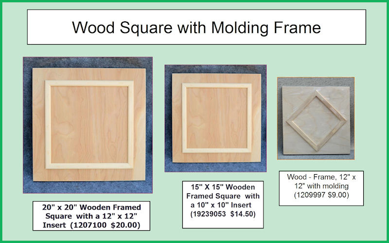 wood square with molding frame collage smjpg