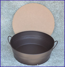 Metal - Bowl with Wooden Lid - 3 Sizes