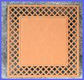 LW - Square Lattice Frame Plaque (1100)
