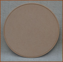 "Wood - 14"" Round MDF Piece with Beaded Ring (1923201602B)"