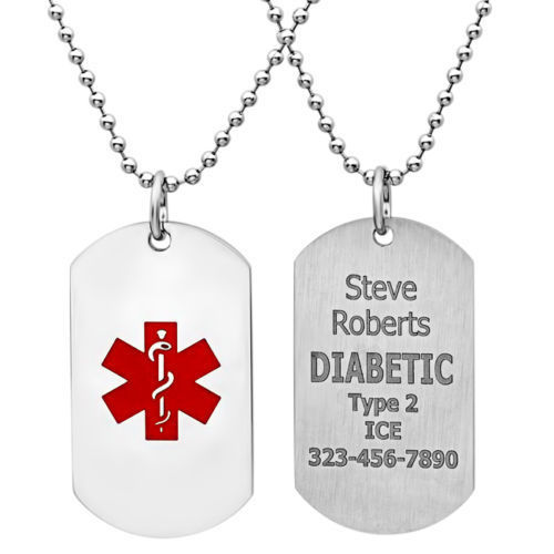 Engraved Medical ID Tag