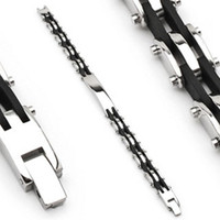 316L Stainless Steel with Rubber Bracelet