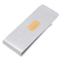 Personalized Stainless Steel Two Tone Luxury Money Clip - Free Engraving