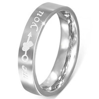 4mm Stainless Steel Comfort Fit Promise Ring