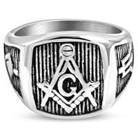 Engraved Mason Ring