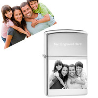 Genuine Zippo Lighter Personalized With Photo