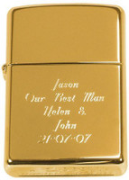 Personalized Genuine Gold Brass Metal Zippo Lighter