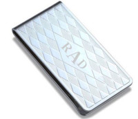 Personalized Diamond Pattern Money Clip