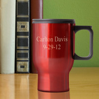engraved travel mug