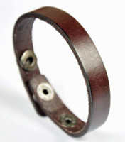Personalized Genuine Brown Leather Bracelet