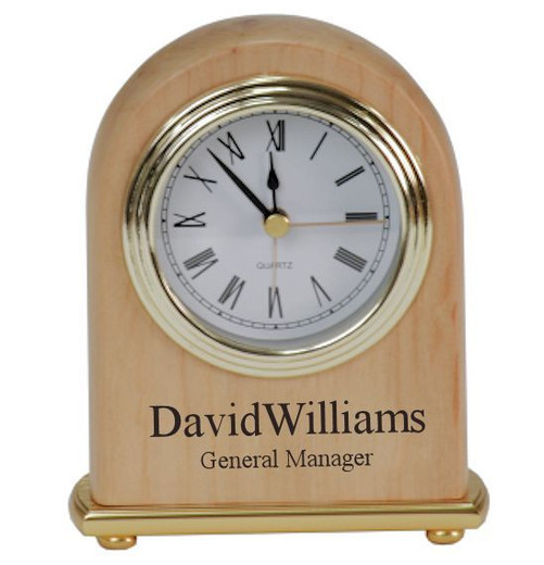 engraved clock