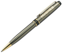 Personalized Gunmetal Brass Ballpoint Pen - Free Engraving