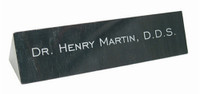 Black Marble Desk Name Bar