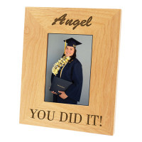 Personalized Alder Photo Frame - 5 x 7