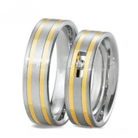 Quality Two Tone Stainless Steel Comfort fit Band Set