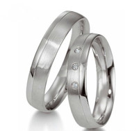 Personalized Stainless Steel Comfort Fit Rings