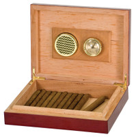 Rosewood Piano Finish Humidor with Hygrometer