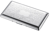 Personalized Floral Pattern 120s Cigarette Case
