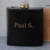 engraved flask