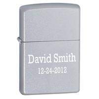 Personalized Satin Chrome Zippo Lighter