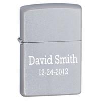 Personalized Satin Chrome Zippo Lighter