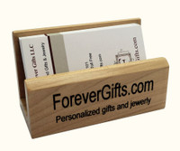Personalized Maple Business Card Holder - Free Engraving