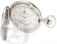 Charles-Hubert Paris Polished Finish Hunter Case Quartz Pocket Watch
