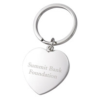Personalized Heart Shape Key Ring - Free Engraving