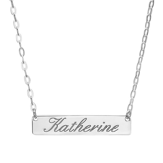 Personalized Name Bar Necklace