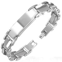 12mm Quality Stainless Steel Bracelet - Free Engraving