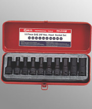 "Genius Tools Metric 3/8"" Drive Hex Head Driver Set 10 Pc TH-310M"