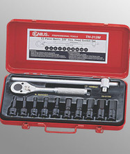 "Genius Tools Metric 3/8"" Drive Hex Head Driver Set 12 Pc TH-312M"