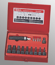 "Genius Tools Metric 1/2"" Drive Hex Head Socket Set 15 Pc TH-415H"