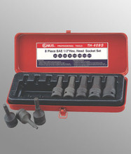 "Genius Tools SAE 1/2"" Drive Hex Head Driver Set 8 Pc TH-408S"