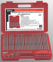 Genius Tools SAE Long Screwdriver Bit w/ OMNIDRIVE® Set 46 Pc TX-246S