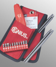 Genius Tools Triple Square Screwdriver Bit Set 16 Pc SB-216TS